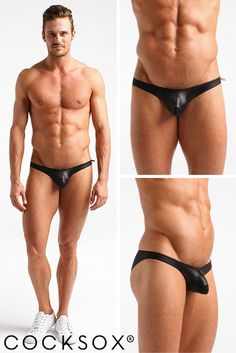 Sensual wetlook swimwear briefs - light to touch yet strong and shiny like rubber