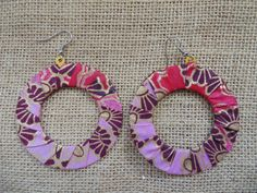 African Print Earrings-Purple Variation 2 – Lillon Boutique