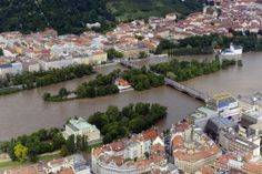 Shooters and Slavic islands in Prague during floods in 2012