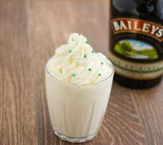 Baileys Milkshake   Ingredients 1 cup vanilla ice cream (can also use coffee ice cream) ½ cup milk ¼ cup Baileys Irish Cream Instructions Blend everything together in blender until smooth.Bailey's Milkshake Yummy :)