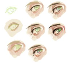 Anonymous said: k EL how do you color eyes? like wow you make them so pretty wow i wished i had those eyes but how do you color them? Digital Painting Tutorials, Digital Art Tutorial, Art Tutorials, How To Draw Abs, Coloring Tutorial, Drawing Base, Anime Eyes, Photoshop, Art Reference Poses