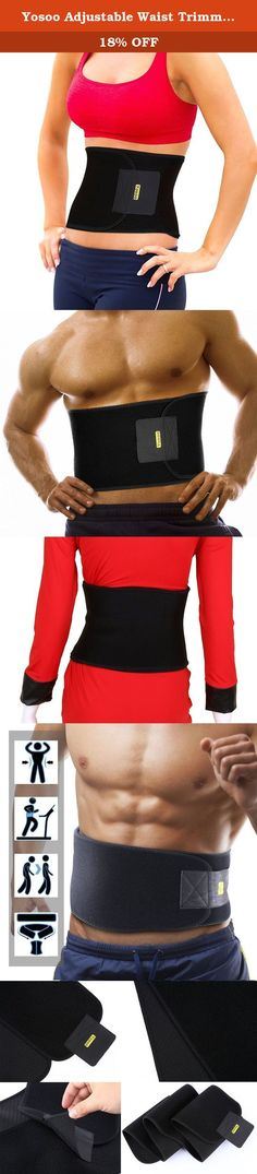 """Yosoo Adjustable Waist Trimmer Belt for Waist Back Support Brace Plus Size. Features: Light weight Adjustable size One size fits most Dimensions : length aprox 50""""x width 7.8"""" Soft & comfortable Neoprene fabric Easy & comfortable to wear Adjustable Velcro closure Fully adjustable to different waist sizes Expels excess moisture & sweat keeping skin dry & comfortable Thin enough to use in public & compact for on the go! Usage: Burn Belly Fat. Wear it anytime. Shed excess water weight. Works..."""