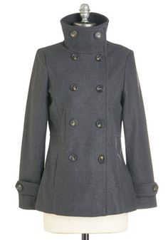 The Best of Timeless Coat in Charcoal | Mod Retro Vintage Coats | ModCloth.com