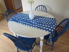 Image Of Dining Room Painted In Valspar Indigo Cloth