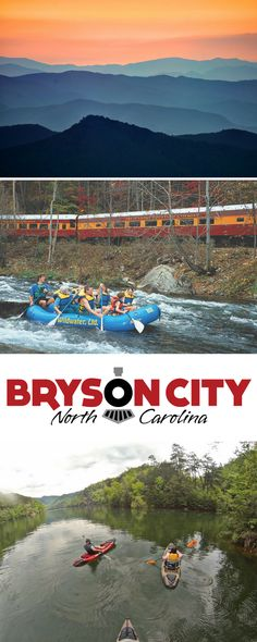 Bryson City is a quiet country town surrounded by scenic mountains, rushing creeks and rivers, a placid lake