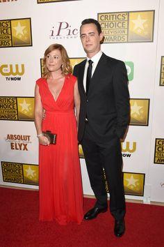 2014 Critics' Choice Television Awards Red Carpet - Samantha Bryant and Colin Hanks