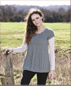 Women's Fearne Tunic in Twilleys Mist DK - download the FREE knitting pattern from LoveKnitting