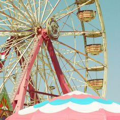 A Pink Carnival Ferris Wheel Pink Summer, Hello Summer, Summer Fun, Summer Picnic, Summer Nights, Pretty In Pink, Carnival Rides, Retro, Girly Things