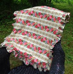 Pair of extra large pillow shams pink floral by MulfordCottage