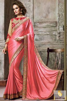 #Peach #Net #Silk Embroidery Work Saree 2016 http://www.pavitraa.in/store/designer-sarees/?utm_source=pk&utm_medium=pinterestpost&utm_campaign=2Jan Call/ WhatsApp : +91-7698234040  #partywearsaree, #designersaree, #festivalsaree, #saree, #designerblouse, #onlinesaree, #emboiderysaree, #bollywoodsaree, #newyearsareecollection, #discountoffer, #wholesalesaree, #festivaloffer