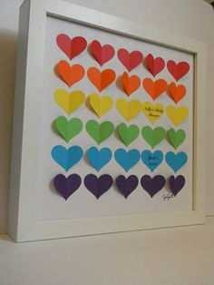 Baby shower guest book alternative rainbow baby by PrettyProposal