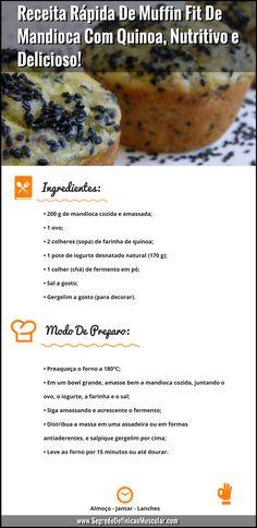 Receita Rápida De Muffin Fit De Mandioca Com Quinoa