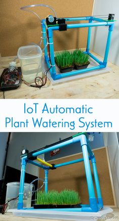 Make an IoT automatic plant watering system which can be controlled through smartphone.