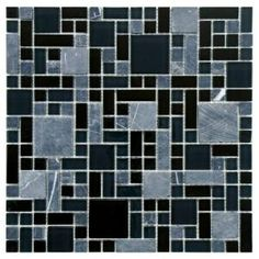 Merola Tile Tessera Versailles Bizancio 11-3/4 in. x 11-3/4 in. Glass and Stone Mosaic Wall Tile