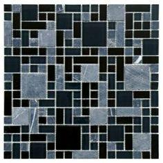 Merola Tile Tessera Versailles Bizancio 11-3/4 in. x 11-3/4 in. Glass and Stone Mosaic Wall Tile