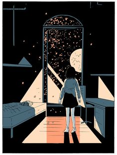 "comics ""On a Sunbeam,"" the Sci-Fi Comic That Reimagines Utopia Stephanie Burt writes about Tillie Walden's sci-fi comic ""On a Sunbeam"" Kunst Inspo, Art Inspo, Art And Illustration, Anime Manga, Anime Art, Arte Indie, Character Design Cartoon, 3d Character, Character Concept"