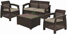 Zestaw mebli ogrodowych CORFU BOX - stolik / skrzynia firmy KETER