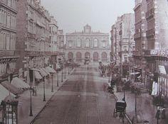 photo de la Gare de lille et la rue faidherbe au XIX ème siecle dans le nord de la france