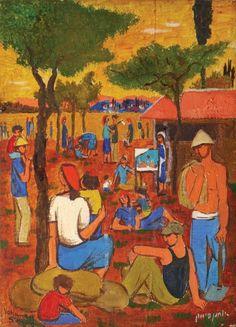 יוחנן סימון Yohanan Simon 1976 - 1905 Resting in a Kibbutz