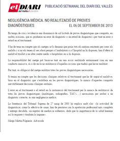 No realización de pruebas diagnósticas  Completo en: http://www.grupomedicolegalbcn.com/es/seccion/articulos/