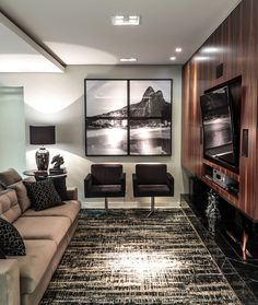 Black and white in a living space