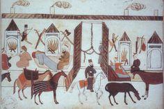 Un Hotel Caravanserai  arabo-musulman dans les voyages de Marco Polo