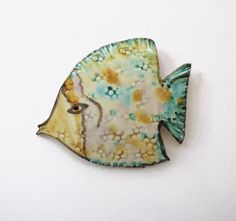 Ceramic wall hanging  Small Tropical Fish  by acosmicmermaid