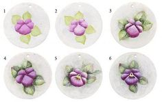 Square Pansy Necklace - Project by DecoArt.. Free painting tutorial!!