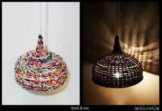 lamp makkirequ made of newspaper lamp shade eco by makkireQu