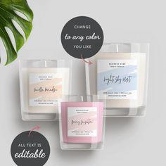 Editable Candle Label Template Printable Jar Label DIY   Etsy