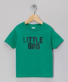 Take a look at this Kelly Green 'Little Bro' Tee - Infant, Toddler & Boys by Micro Me on #zulily today!