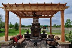 fireplace and pergola designs outdoor pergola with