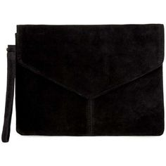 Miss Selfridge Envelope Clutch Bag (€24) ❤ liked on Polyvore featuring bags, handbags, clutches, purses, black, handbag purse, genuine leather handbags, leather envelope clutch, handbags clutches and envelope clutch