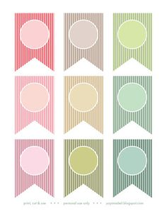 Printable Banners Templates Free | Click the image above or here to download . Aren't they pretty colors ...