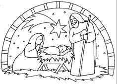 http://dailycoloringpages.com/images/nativity-scene-bible-coloring ... - Christmas Nativity Coloring Pages