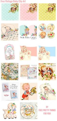 Free-Vintage-Baby-Clip-Art-CollageFPTFY