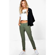 Boohoo Blue Nadia Mid Rise Biker Skinny Jeans ($30) ❤ liked on Polyvore featuring jeans, khaki, ripped skinny jeans, white high-waisted jeans, white skinny jeans, high-waisted boyfriend jeans and white ripped skinny jeans