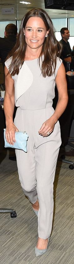 Pippa Middleton wore a Reiss jumpsuit