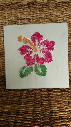 Hawaiian Hibiscus Flower String Art Home Decor, Unique Hawaii Themed Gift, Wood Wall Hanging/Shelf Sitting Sign, Ready to Ship by MushBugCrafts on Etsy