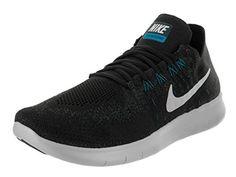 newest cda41 b8cca Nike Men s Free Rn flyknit 2017 Black Off White Anthracite Running Shoe 10  Men US