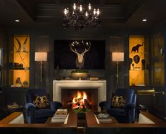 Cigar Room designed by Michael Habachy for the Atlanta Symphony's Decorator's Showhouse 2013 Photography by Jeff Roffman