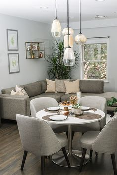 Maximizing A Small Open Concept Living Space – Room & Board - Home Decor Living Room Modern Small Living Dining, Open Kitchen And Living Room, Living Dining Combo, Condo Living Room, Small Apartment Living, Small Living Rooms, Living Room Designs, Living Room Decor, Spare Living Room Ideas
