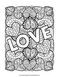 Free Printable Valentines Day Coloring Pages EBook For Use In Your Classroom Or Home From PrimaryGames Print And Color This Love Page