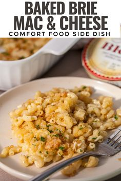 This recipe for Brie Mac & Cheese makes a creamy delightful mac and cheese that has a classic brie flavor. You can make it right on the stovetop with no roux, top it with a layer of breadcrumbs and bake for a comfort food side dish that's great for a weeknight meal or served at a holiday table. Healthy Side Dishes, Healthy Dinner Recipes, Real Food Recipes, Keto Recipes, Breakfast Recipes, Easy Recipes, Healthy Food, Making Mac And Cheese, Easy Holiday Recipes