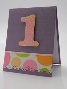 Polka Dot Party First Birthday Greeting Card by DesignsByCnC, $5.00