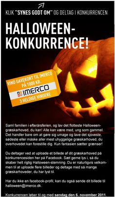 Campaign using Newsperience Facebook Photo App / fotokonkurrence  Newsperience.dk  IMERCO haloween