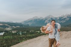 Caity and Mac Mountain Top Adventure Session at Jasper National Park, Old Fort Point by Emilie Smith Adventure Photography - 6344_Stomped.jpg