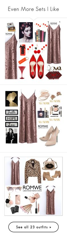 """""""Even More Sets I Like"""" by mikahelaine ❤ liked on Polyvore featuring PBteen, Pottery Barn, Charlotte Russe, Accessorize, Various Projects, Home Decorators Collection, Oliver Gal Artist Co., New View, Casadei and Red Camel"""