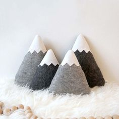 The perfect go to for an adventure nursery - mountains pillows