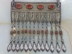 Centrial Asia Turkmen Tekke Silver necklace von turkmenarts auf Etsy